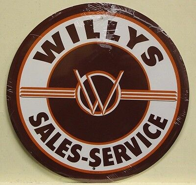 """WILLYS 12"""" metal sign willy's sales and service logo original jeep 4x4  rd-29"""