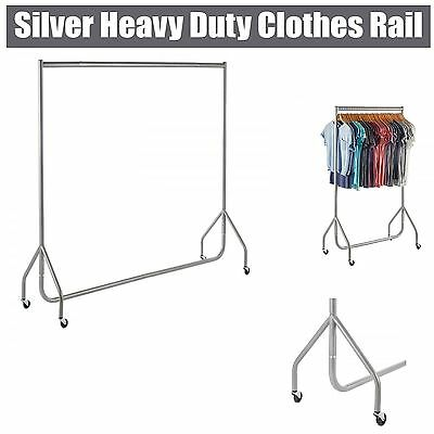 NEW HEAVY DUTY SILVER CLOTHES,GARMENT RAILS 2ft 3ft 4ft 5ft 6ft