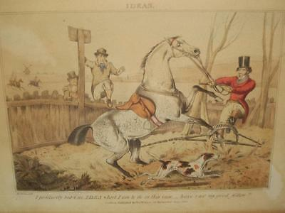 HENRY ALKEN LARGE C19TH C1830 FOX HUNTING LONDON PUBLISHED THOS McCLEAN