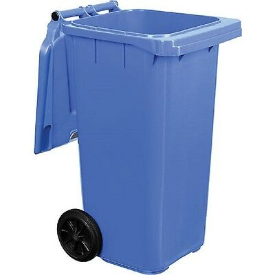 NEW! Mobile Trash Container with Lid - 32 Gallon Blue, 3 Pack!!
