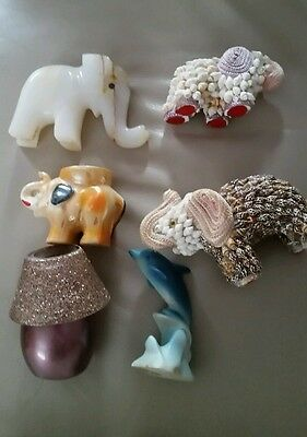 Joblot of elephant, dolphin and mini candle ornaments