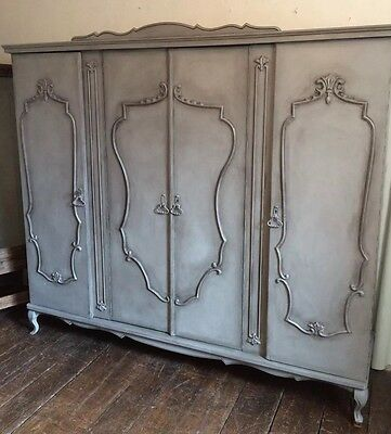 French Painted Knockdown Triple Armoire Annie Sloan