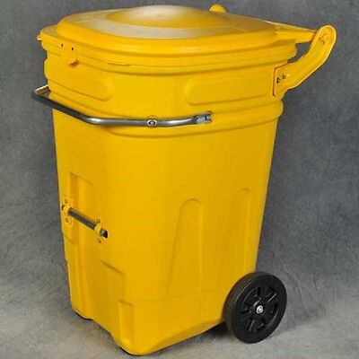 NEW! Eagle 1696Y Wheeled Spill Kit E-Cart w/Lid, 65 Gallon Yellow!!
