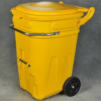 NEW! Eagle Wheeled Spill Kit E-Cart w/Lid, 95 Gallon Yellow - 1697Y!!