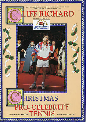 Cliff Richard 1994 Tennis Programme With Autographs