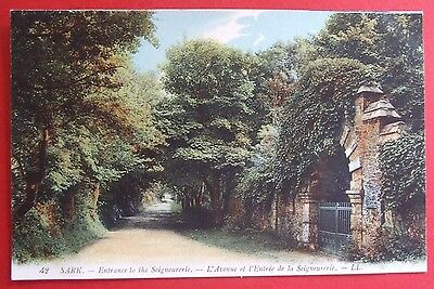 LL No.42 COLOURED Postcard c.1910 ENTRANCE TO SEIGNEURERIE SARK CHANNEL ISLANDS