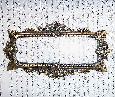 NAME PLATE FRAME Vintage Ornate Solid Brass Decorative Architectural Accessory
