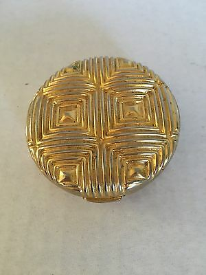 Estee Lauder Round Lucidity Powder ribbed Gold Compact NEW