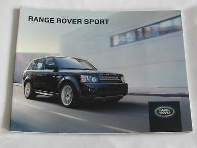 2012 / 2013  Range  Rover  Sport 72 Page  Large Format  Brochure