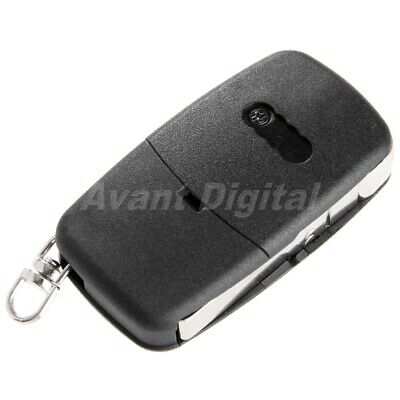 Black 3 Button Flip Remote Key Fob Blade Case Shell For Audi TT A2 A3 A4 A6 A8