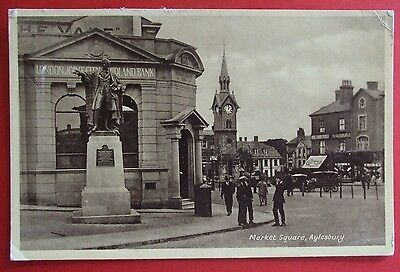 R.A. SERIES Postcard POSTED 1946 MARKET SQUARE AYLESBURY BUCKINGHAMSHIRE