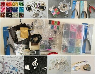 Ultimate Starter Jewellery Making Kit, Tools, Beads, Findings and Instructions