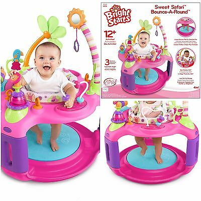 Girly Bounce-a-Round Fun Activity Center by Bright Starts Sweet Safari Baby Toy