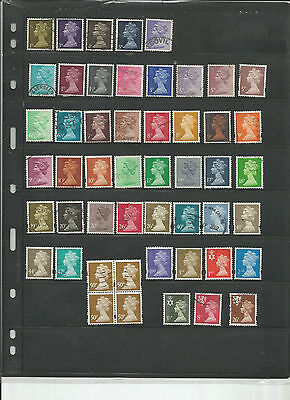 50 Used Great Britain Machin Stamps