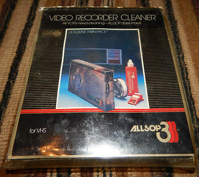 Allsop3 VHS VCR Head, Tape Path & Tape Drive Cleaner with REFILLS