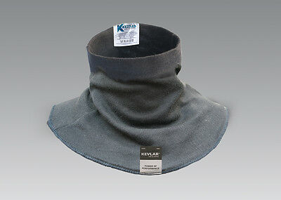 Cut Resistant DuPont Kevlar Black Neck & Throat Guard Protection