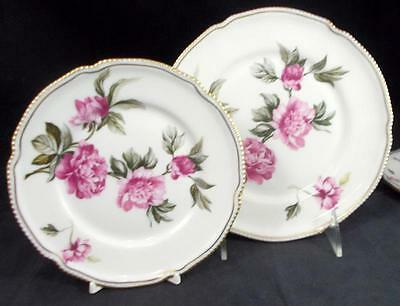 Castleton PEONY Salad Plate + Bread & Butter Plate GREAT CONDITION