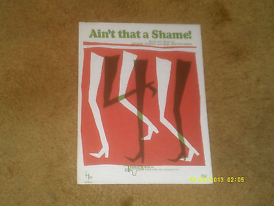 Fats Domino sheet music Ain't That a Shame 1962 reprint 3 pages (VG+ shape)