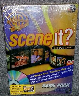 NEW Scene It WB Edition DVD Game Trivia Party Knowledge Movie Actor Actress Star