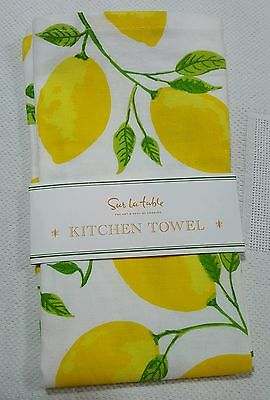 Sur La Table (1) Lemon Leaf Cotton Kitchen Towel SORRENTO LEMON NIP
