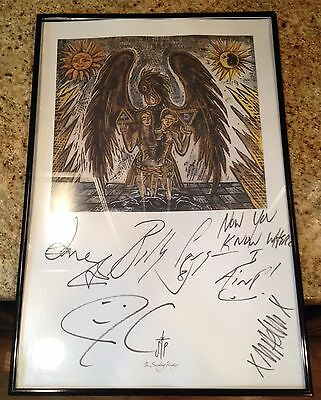 ONE-OF-A-KIND Autographed Smashing Pumpkins Signed Lithograph Poster (Framed)