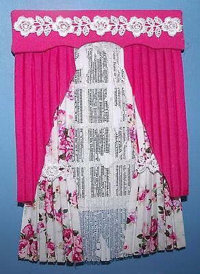 12Th Scale Rose Pink Curtains With Drapes