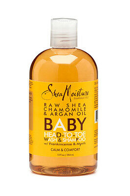 [Shea Moisture] Raw Shea Chamomile&argan Oil Baby Head-To-Toe Wash&shampoo 13Oz