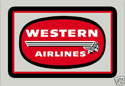 """Western Airlines Logo 3.25""""x2.25"""" Collectibles Handmade Fridge Magnet (LM14024)"""