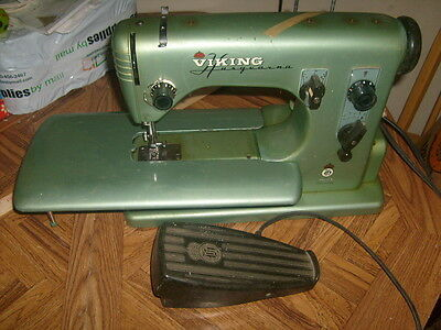 Vintage Industrial Husqvarna Viking Automatic Sewing Machine w/accessories CL21A