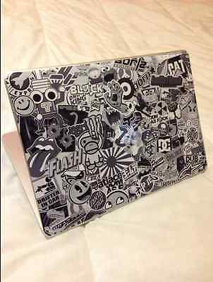 Apple MACBOOK 13 PRO unibody SKIN Sticker autocollant  bomb noir et blanc deco