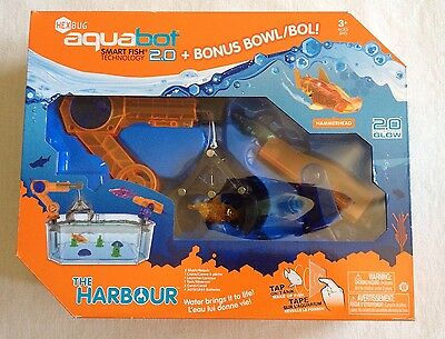 Hex Bug Aquabot Fish Bowl The Harbour Playset With Hammerhead 2.0 Smart Fish New