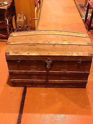 Victorian Dome Top Travel Chest  *Make Me An Offer*