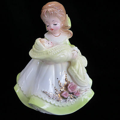 Josef Originals New Mother Baby Infant Music Box Brahms Lullaby Revolves Musical