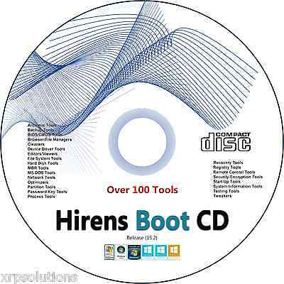 Hiren's Boot CD 15.2 PC Repair Boot Disc Recovery - 100's of Utilities