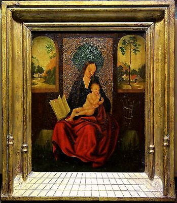 Adriaen ISENBRANT (Attrib.) (c.1490-1551) Mother of God Maria and Christ child