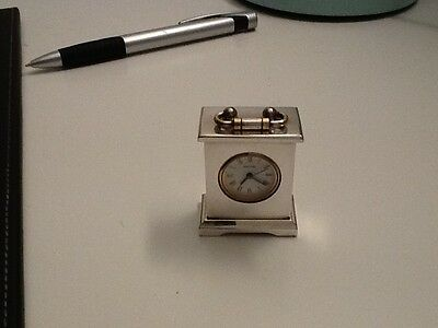 Minature Silver Carriage Clock Estyma