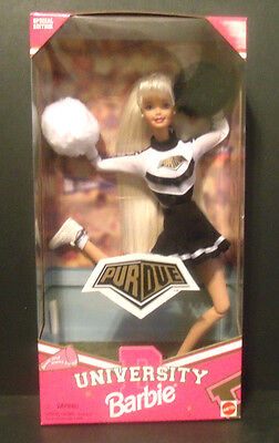 PURDUE UNIVERSITY BOILERMAKERS Barbie Special Edition Cheerleader Doll Mattel