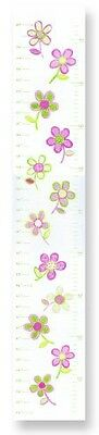 The Kids Room by Stupell Pink and Green Floral Growth Chart