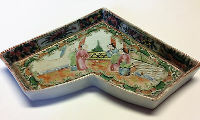Antique Chinese Famille Rose Sweetmeat Plate Tray Ceramic Pink Green