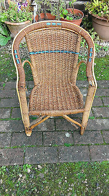 Childs  Vintage  Basket  Chair