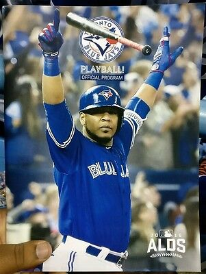 Toronto Blue Jays Alds Playoff Program Edwin's Walkoff Wc Home Run Cover