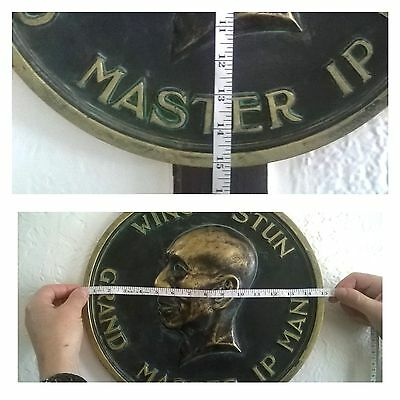 Wing Chun Stun Grand Master Ip Man Round Wall Plaque Sports Picture!£39.99