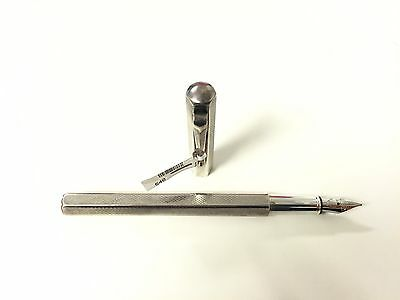 Brand New Authentic Caran d'Ache Ecridor Retro Fountain Pen Silver Vintage