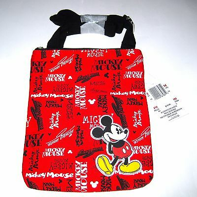 Disney Park Authentic Bag✿Mickey Mouse Canvas Letter Carrier Purse Crossbody NEW