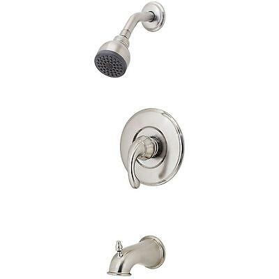 Pfister R89-8DK0 Treviso 1-Handle Tub and Shower Faucet Trim Kit Brushed Nickel