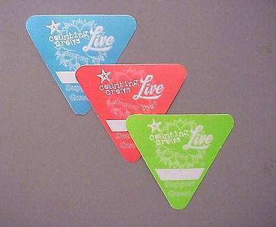 Counting Crows satin backstage passes AUTHENTIC 3 & Live - TRIANGLES !