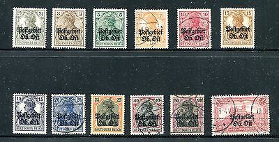 Lithuania 1N1-1N12, 1916-17 German Occupation, Mint And Used, (Id5842