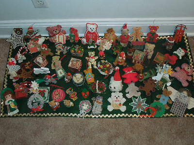 Vintage Christmas Ornaments/Decorations Large Lot Of Various bears and other!