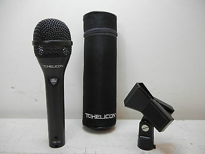 Tc-Helicon Mp-75 Dynamic Vocal Or Instrument Microphone With Clip & Pouch Lqqk !