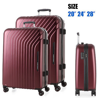 3PCS Luggage set 4Spinner wheels Trolley Suitcase TSA Lock Travel Carry on Bag